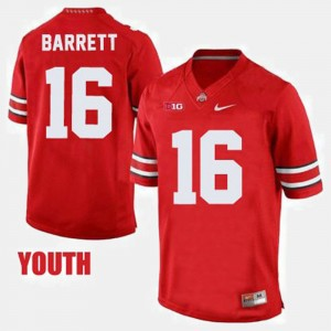Youth Football Buckeye #16 J.T. Barrett college Jersey - Red