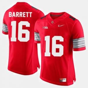 Men's #16 Ohio State Football J.T. Barrett college Jersey - Red