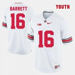 Youth(Kids) Ohio State #16 Football J.T. Barrett college Jersey - White