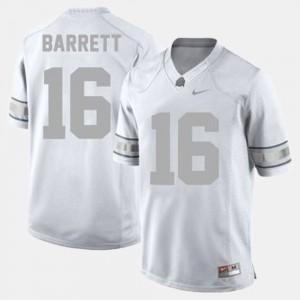 Men's Football #16 Ohio State Buckeyes J.T. Barrett college Jersey - White