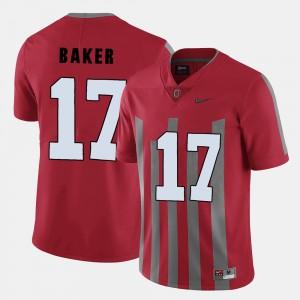 Men #17 Football OSU Buckeyes Jerome Baker college Jersey - Red