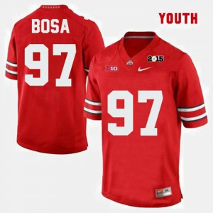 Youth(Kids) #97 Buckeyes Football Joey Bosa college Jersey - Red
