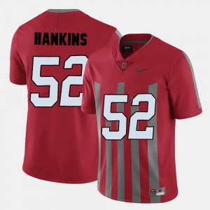 Men #52 Buckeye Football Johnathan Hankins college Jersey - Red