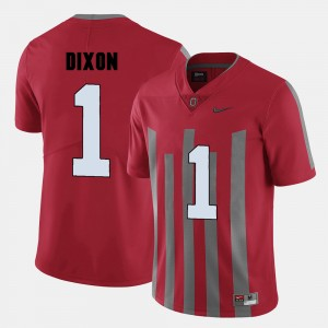 Men's #1 Ohio State Buckeyes Football Johnnie Dixon college Jersey - Red