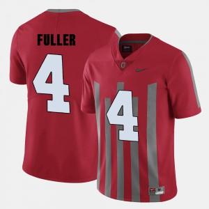 Men Football #4 Ohio State Jordan Fuller college Jersey - Red