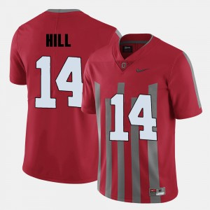 Men Football #14 Ohio State K.J. Hill college Jersey - Red