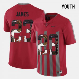 Youth Ohio State #23 Pictorial Fashion Lebron James college Jersey - Red