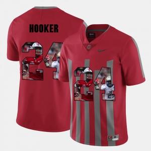 Mens Pictorial Fashion #24 Ohio State Buckeye Malik Hooker college Jersey - Red