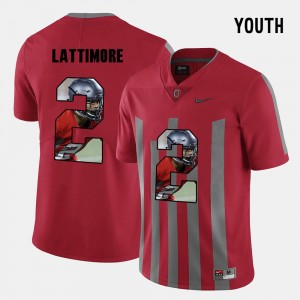 Youth #2 OSU Pictorial Fashion Marshon Lattimore college Jersey - Red