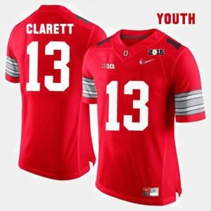 Kids Ohio State Buckeye Football #13 Maurice Clarett college Jersey - Red