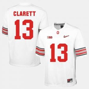 Men Football #13 Ohio State Buckeyes Maurice Clarett college Jersey - White