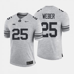 Men's Gridiron Limited #25 Gridiron Gray Limited Ohio State Mike Weber college Jersey - Gray
