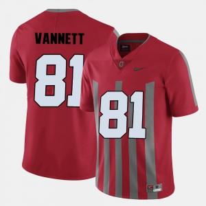 Men Football #81 Ohio State Nick Vannett college Jersey - Red