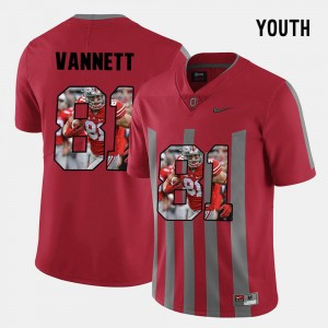 Youth Ohio State #81 Pictorial Fashion Nick Vannett college Jersey - Red