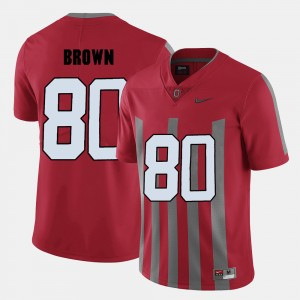 Men's Ohio State Football #80 Noah Brown college Jersey - Red