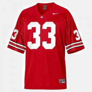 Mens #33 Football Ohio State Buckeye Pete Johnson college Jersey - Red
