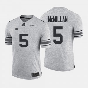 Men's Gridiron Gray Limited Gridiron Limited Ohio State #5 Raekwon McMillan college Jersey - Gray
