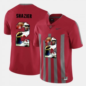 Men Buckeyes Pictorial Fashion #2 Ryan Shazier college Jersey - Red