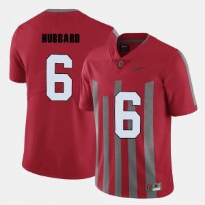 Men #6 OSU Football Sam Hubbard college Jersey - Red
