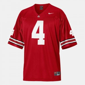 Men Ohio State Buckeyes #4 Football Santonio Holmes college Jersey - Red