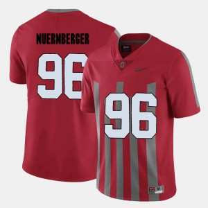 Mens Football Ohio State #96 Sean Nuernberger college Jersey - Red
