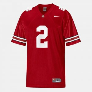 Men's #2 Football Ohio State Terrelle Pryor college Jersey - Red