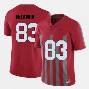 Mens Football Ohio State Buckeyes #83 Terry McLaurin college Jersey - Red