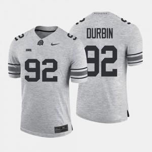 Men OSU Gridiron Gray Limited #92 Gridiron Limited Tyler Durbin college Jersey - Gray