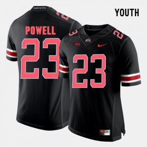 Youth(Kids) #23 Tyvis Powell college Jersey - Black Football Ohio State