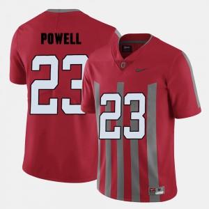 Men Football Ohio State Buckeye #23 Tyvis Powell college Jersey - Red
