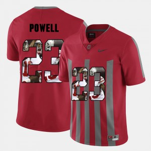 Men Pictorial Fashion #23 Ohio State Buckeye Tyvis Powell college Jersey - Red