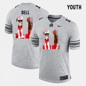 Youth(Kids) #11 Ohio State Buckeyes Pictorital Gridiron Fashion Pictorial Gridiron Fashion Vonn Bell college Jersey - Gray