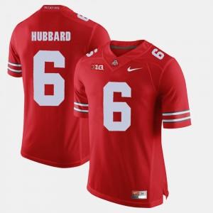 Men's Buckeye #6 Alumni Football Game Sam Hubbard college Jersey - Scarlet