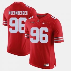 Men's OSU Alumni Football Game #96 Sean Nuernberger college Jersey - Scarlet