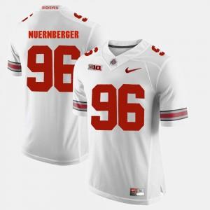 Mens #96 Buckeyes Alumni Football Game Sean Nuernberger college Jersey - White