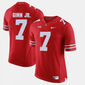 Men's #7 Ted Ginn Jr. college Jersey - Scarlet Alumni Football Game Ohio State