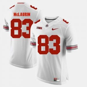 Men Alumni Football Game Buckeye #83 Terry McLaurin college Jersey - White