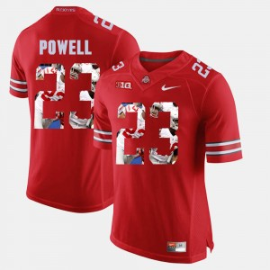 Men Pictorial Fashion Ohio State Buckeye #23 Tyvis Powell college Jersey - Scarlet