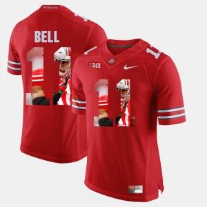 Men's #11 OSU Pictorial Fashion Vonn Bell college Jersey - Scarlet