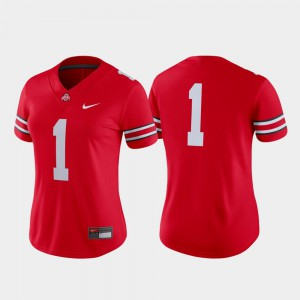 Women Football Game #1 Ohio State college Jersey - Scarlet