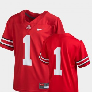 Youth #1 Team Replica Football Ohio State college Jersey - Scarlet