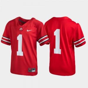 Youth Buckeye Football #1 Untouchable college Jersey - Scarlet