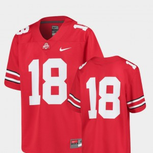 Youth(Kids) Replica Ohio State #18 Football college Jersey - Scarlet