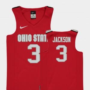 Kids #3 Buckeyes Replica Basketball C.J. Jackson college Jersey - Red