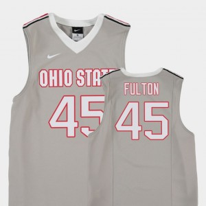 Youth #45 Buckeye Replica Basketball Connor Fulton college Jersey - Gray