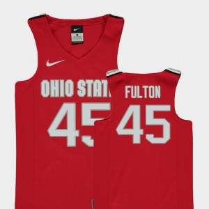 Kids Ohio State Buckeyes Basketball #45 Replica Connor Fulton college Jersey - Red