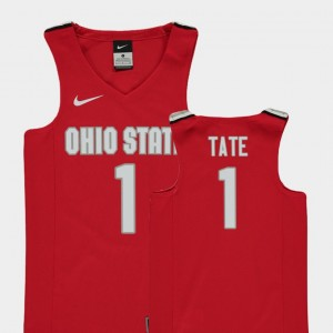 Kids #1 Buckeye Replica Basketball Jae'Sean Tate college Jersey - Red