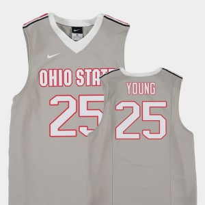 Kids Basketball Replica #25 Buckeyes Kyle Young college Jersey - Gray